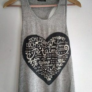 The Classic Love Heart Graphic Tank Top